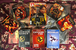 Lot Of 12 The Hunger Games Complete 4-film Dvd Collection And Book Set Lot Used