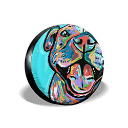 Cute Pit Bull Painting Spare Tire Cover Fit For Camper Trailer Rv Suv Truck