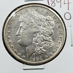 1894 O 1 Morgan Silver Eagle Dollar Coin Avg / Ch Au About Unc New Orleans Mint
