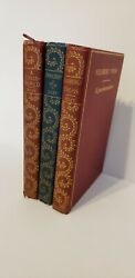 Antique Vintage Gilded James Whitcomb Riley Poetry Book Lot First Edition 1890s