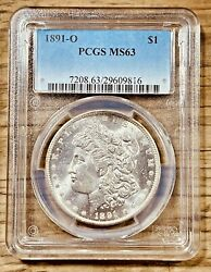1891-o Ms63 Morgan Silver Dollar Pcgs Graded Certified Us 1 New Orleans Coin