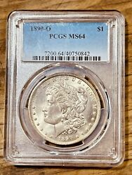 1890-o Ms64 Morgan Silver Dollar Pcgs Graded Certified Us 1 New Orleans Coin