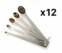 Norpro 5 Piece Stainless Steel Mini Measuring Spoon Set Pack Of 12