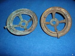 2 Antique Victorian Brass Gas Light Ring And Shade Holder Part
