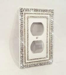 Crystal Bling Rhinestone Decorative Toggle Rocker Wall Plate Light Switch Cover