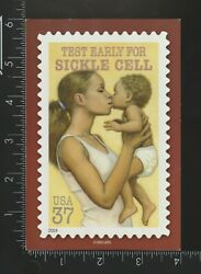 Continental Chrome Unposted Postcard Sickle Cell Usps Mother And Child
