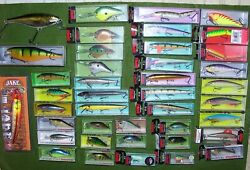 Huge Fishermanand039s Lot Of Lures And Tackle Rapala Crankbaits-spinners And More+bonus