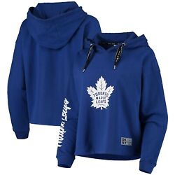 Toronto Maple Leafs Dkny Sport Women's Suzy Pullover Hoodie - Royal