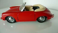 Highly Collectible Red Porsche -356 B Convertible 1961 Model 1/24 Scale