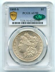 1895-s 1 Morgan Silver Dollar Pcgs And Cac Au 50