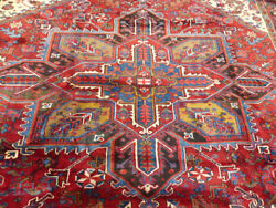 8and0395x10and039 Handmade Wool Authentic Antique Herizz Oriental Vintage Area Rug