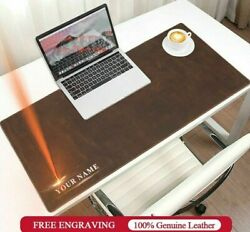 Leather Desk Mat Personalized Anti-slip Mouse Laptop Pad Large Size Table Cover