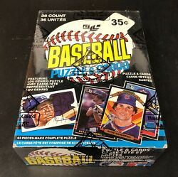 1985 Leaf Baseball Wax Box Bbce Authenticated Fasc From A Sealed Case