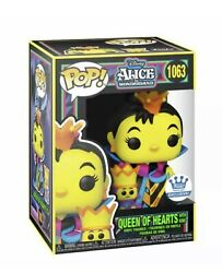 Queen Of Hearts Black Light Funko Shop Exclusive Alice And Wonderland Sold Out