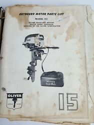 Oliver Outboard Motors Manual Invoice Service Repair Reference Vintage Retro