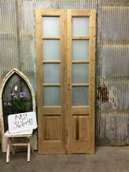 8 Pane French Glass Doors, Antique French Double Doors, Old Wood Doors, M2