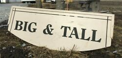 Big And Tall Sign, Vintage 2 Sided Hanging Advertising Sign, Mens Clothing Sign,