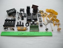 Lot Of 36 Assorted Signs Dogs Fire Station Detail Parts, G O-27 Gauge O Scale