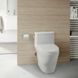 Toto Nexus One-piece Elongated 1.28 Gpf Universal Height Toilet With.