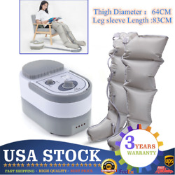 Air Compression Leg Massager Health Medical Care Lymphedema Therapy Recovery Usa