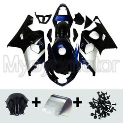 Motorcycle Abs Fairings Fit For Suzuki Gsxr600 750 2004 2005 Blue Silver Kit