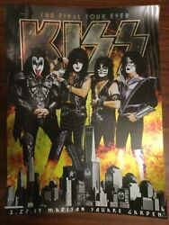Official Kiss Final Tour Ever Msg Nyc Event Foil Poster 3/27/19 57/350 Numbered