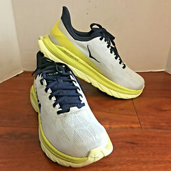 Hoka One One Mach 4 Menand039s Cushioned Running Shoes Size 9.5 D 1113528 Bfct Euc