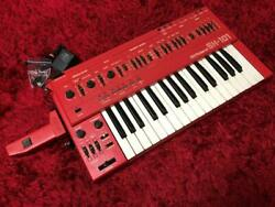 Roland Sh-101 Red Vintage Monophonic Synthesizer W/ Mgs-1 Modalation Grib Japan