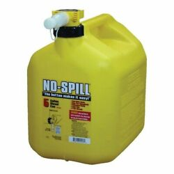 No-spill 1457 Diesel Gas Can 5 Gal 15 In H Plastic Yellow.