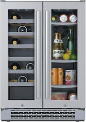 Avallon 24 Wide 21 Bottle Capacity 64 Can Capacity Beverage Center Awbc241ggfd