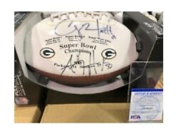Green Bay Packers 4-time Super Bowl Champions Signed By Aj Hawk And Clay Matthews