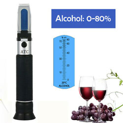 0-80 Alcohol-refractometer Alcohol Concentration Detector For Brix Grapes Beer