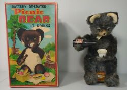 Picnic Bear Battery Operated Rock Valley Toy