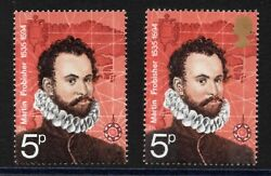 1972. Polar Explorers. Sg898a. 5p Queens Head Omitted Error. Unmounted Mint.