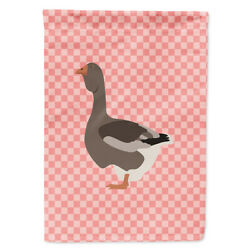 Carolineand039s Treasures Bb7897chf Toulouse Goose Pink Check Flag Canvas House Size