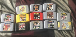 N64 Game Lot 13 Games Conkers Bad Fur Day Paper Mario Etc Tested Cleaned