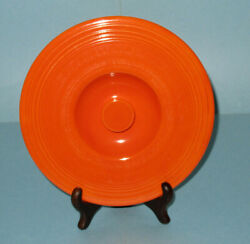 Rare Vintage 1936 Radioactive Red Fiesta 4 Mixing Bowl Lid Excellent Condition