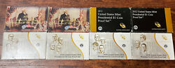 2009 - 2016 Presidential Dollar Coin Set Proof 4 Coins