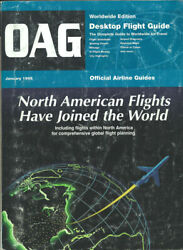 Oag Official Airline Guide Worldwide Timetable 1/95 [1043]