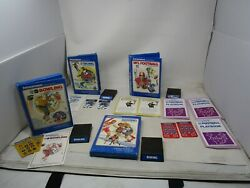 Vintage Lot Of 4 Intellivision Sports Video Games Nfl, Skiing, Boxing, Bowling