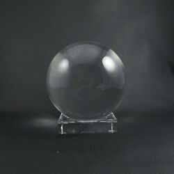 Large 5 3/4 Sirius By Baccarat Crystal Ball Orb And Stand Art Statue Paperweight