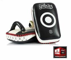 New Fairtex Curved Mma Muay Thai Pads Pair Extra Thick