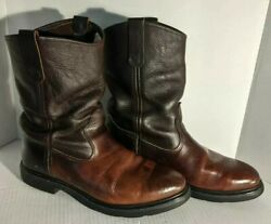 Red Wing Usa Vintage Leather Western Cowboy Trail Boss Ranch Work Boots 9.5