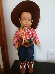 Doll Terri Lee Gene Autry Cowboy Doll Tagged Gene Autry Shirt 1950and039s