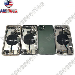 New Oem Back Housing Glass Battery Cover Frame Assembly For Iphone 11,11 Pro Max