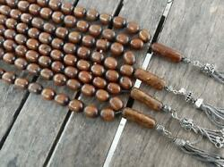 Coral 33 Prayer Beads Islamic Old Player Beads Gold Black Antique 4pcs 245.5gr