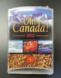 2002 Oh Canada Royal Canadian Mint Uncirculated Coin Set 7 Coins Ogp Cd Pack