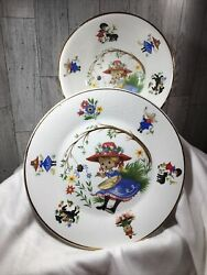 Arklow Republic Of Ireland Nursery Rhyme Childs 2 Piece China Set Plate And Bowl