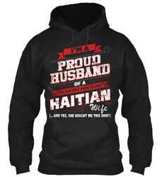 Haitian-pround Husband-01 Classic Pullover Hoodie - Poly/cotton Blend By Ngtrung