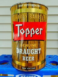 Topper Genuine Draught Gallon Party Keg Empty Beer Can 246-12 Rochester New York